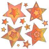 Nowożytna gwiazdowa kolekcja Obraz Stock