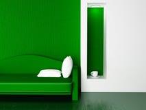 Nowożytna kanapa w pokoju, 3d Zdjęcia Stock