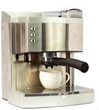 Nowożytna kawa Machine.Still-life na białym tle zdjęcia stock