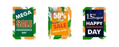 Nowożytna kolorowa rama dla teksta dla Indiańskiego dnia niepodległości backg Obraz Stock