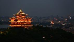 Nowożytna miasto linia horyzontu, budynki biurowi w Hangzhou i zbiory wideo