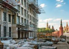 Nowożytna miastowa budowa w środkowym Moskwa Zdjęcie Stock