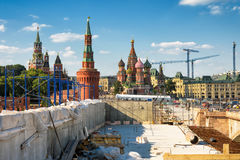 Nowożytna miastowa budowa w środkowym Moskwa Fotografia Stock
