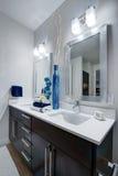 Nowożytna mieszkanie łazienka zdjęcie royalty free