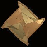 Nowożytna osłony ikona na czarnym tle Obrazy Royalty Free