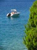 Nowożytna prędkości łódź Fotografia Royalty Free