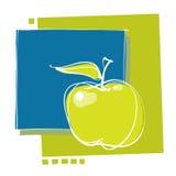 nowożytna projekt jabłczana ikona ilustracji