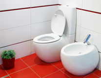 nowożytna projektant toaleta Fotografia Royalty Free