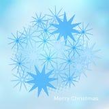 Nowożytna prosta minimalistic kartka bożonarodzeniowa Fotografia Stock