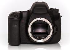 Nowożytna s Cyfrowa kamera od plecy, Odizolowywającego Na Wh Zdjęcia Stock