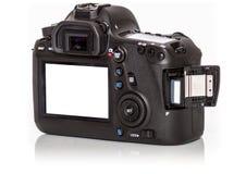 Nowożytna s Cyfrowa kamera od plecy, Odizolowywającego Na Wh Obraz Royalty Free