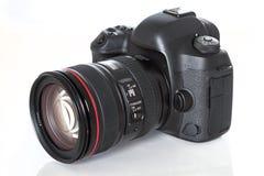 Nowożytna s Cyfrowa kamera od plecy, Odizolowywającego Na Wh Zdjęcia Royalty Free