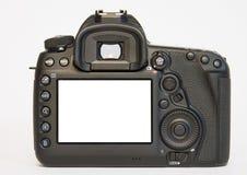 Nowożytna s Cyfrowa kamera od plecy, Odizolowywającego Na Wh Fotografia Royalty Free