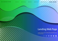 Nowożytna strony internetowej lądowania strona ilustracja wektor
