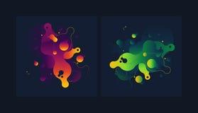 Nowożytna stylowa abstrakcja z składem robić różnorodni zaokrągleni kształty w kolorze Zdjęcia Royalty Free