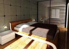 nowożytna sypialni moda ilustracja wektor