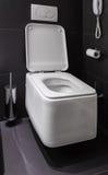 Nowożytna toaleta w łazience fotografia royalty free
