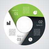 Nowożytna wektorowej informaci grafika dla biznesowego projekta Fotografia Royalty Free