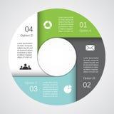 Nowożytna wektorowej informaci grafika dla biznesowego projekta Obraz Royalty Free