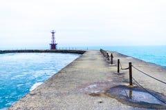 Nowożytna, zlikwidowana latarnia morska, zdjęcie royalty free