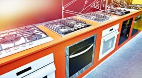 Nowożytne benzynowe kuchenki w sklepie obrazy royalty free