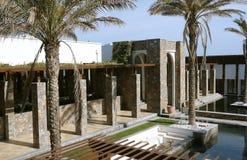 nowożytne budynek palmy zdjęcia royalty free