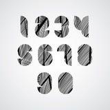 Nowożytne cyfrowe kształtne stylizowane liczby Zdjęcia Royalty Free