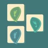 Nowożytne ikony ustawiać pronation stopa Obraz Stock