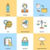 Nowożytne kreskowe ikony ustawiać Obraz Stock