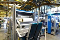 Nowożytne maszyny dla transportu w wielkiego druku sklepie dla pro obrazy royalty free