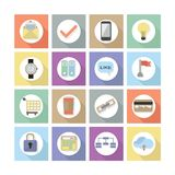 Nowożytne płaskie sieć projekta ikony Ustawiają 2 Zdjęcie Stock