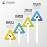 Nowożytne strzała Infographic projekta szablon Linia czasu również zwrócić corel ilustracji wektora Fotografia Stock