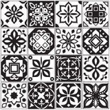 Nowożytne wewnętrzne hiszpańskie i tureckie płytki Kuchenni kwieciści wektorów wzory royalty ilustracja