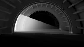 Nowożytnego architektury tła futurystyczny wnętrze z Wolumetrycznym oświetleniem Obrazy Stock
