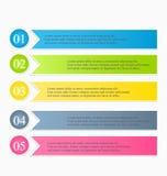 Nowożytnego infographics projekta kolorowy szablon z cieniem Zdjęcia Royalty Free