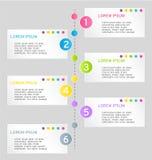 Nowożytnego infographics sieci projekta kolorowy szablon z cieniem Obrazy Royalty Free