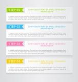 Nowożytnego infographics sieci projekta kolorowy szablon z cieniem Zdjęcia Stock