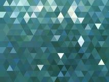 Nowożytnego kruszcowego błękitnego trójgraniastego wieloboka niski poli- tło royalty ilustracja