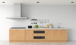 Nowożytnego kuchennego countertop i elektrycznej indukcji kuchenka dla mockup, 3D rendering royalty ilustracja