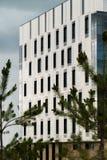 Nowożytnego projekta miasta budynek mieszkaniowy w mieście Fotografia Royalty Free