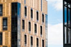 Nowożytnego projekta miasta budynek mieszkaniowy w mieście Obrazy Royalty Free