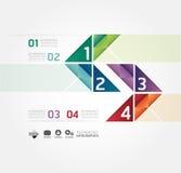 Nowożytnego projekta Minimalny stylowy infographic szablon Zdjęcie Royalty Free