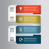 Nowożytnego projekta szablon dla infographics Liczący sztandar z 4 krokami, części, opcje royalty ilustracja