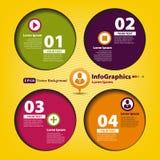 Nowożytnego projekta szablon dla infographics z cztery okręgami Obraz Stock