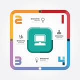 Nowożytnego projekta szablon/może używać dla infographics, liczy/ Zdjęcia Royalty Free