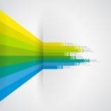 Nowożytnego projekta szablon z liczącymi sztandarami - może używać dla i Zdjęcia Royalty Free