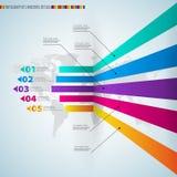 Nowożytnego projekta szablon z liczącymi sztandarami - może używać dla i Fotografia Stock