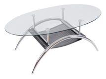 Nowożytnego szkła odgórny łomota stół Fotografia Royalty Free