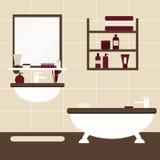 Nowożytnej łazienki wewnętrzny projekt ilustracja wektor