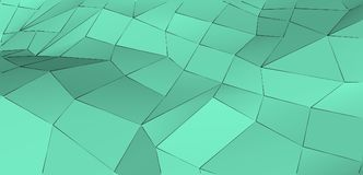 Nowożytnej abstrakcjonistycznej świeżej mennicy zieleni trójgraniasty tło Poczęcie świeżość i czystość ilustracji